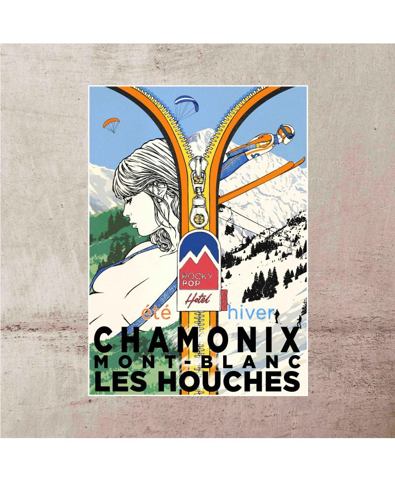 Poster Chamonix Vintage...