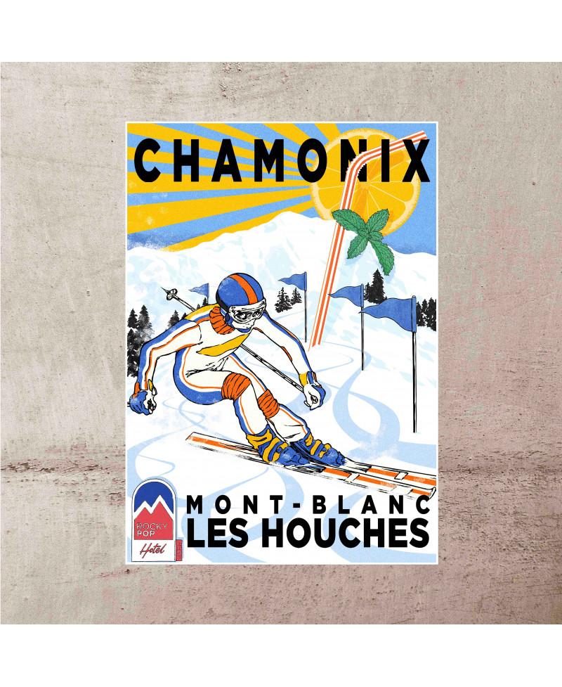 Affiche Chamonix Vintage...